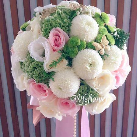 Y017浪漫婚宴捧花一世久久台南市花店
