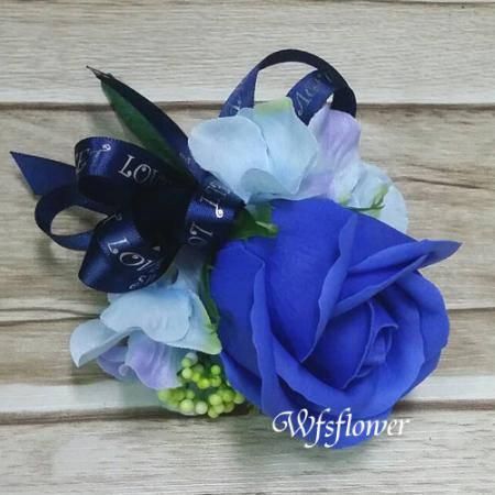 w-27藍色香皂花精緻胸花香皂花台南市花店台南專業花店