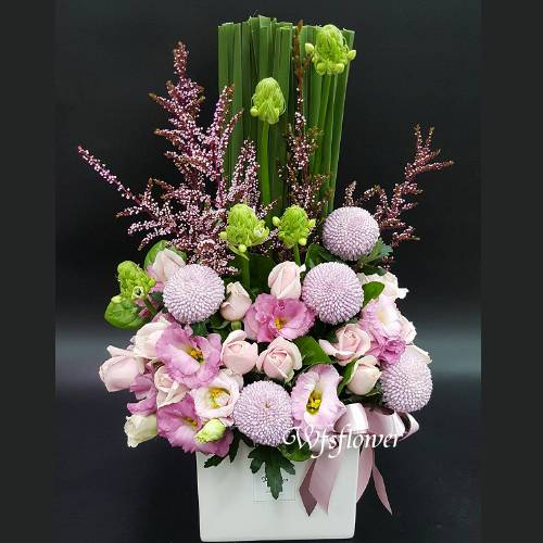 D089新春花禮一路長紅喜氣盆花台南市花店