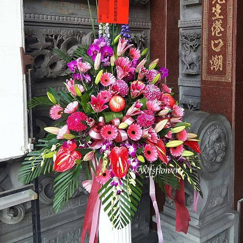 BL049祭祀謝神(蘋)平安花柱台南市南區花店