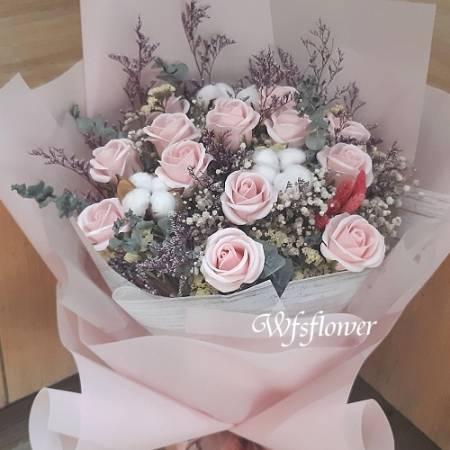 MS017香皂花&乾燥花情人節花束