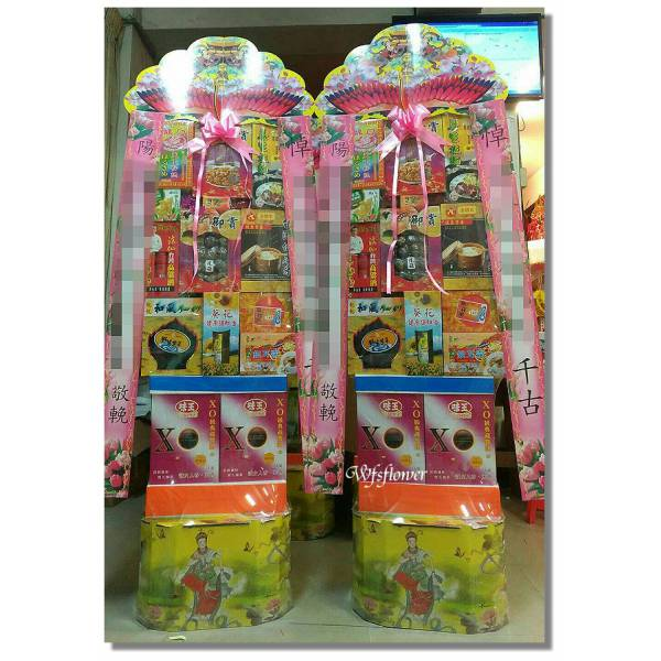 P005弔唁花禮罐頭禮藍塔台南市花店