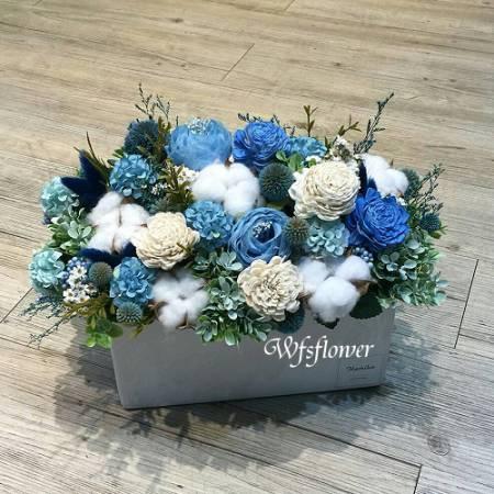 J023祝賀乾燥花盆花台南市乾燥花