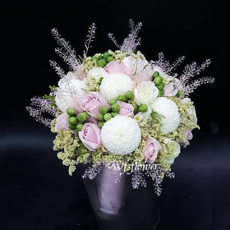 Y020浪漫婚宴捧花一世久久台南市花店