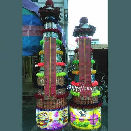 P010弔唁花禮罐頭禮藍塔台南市花店