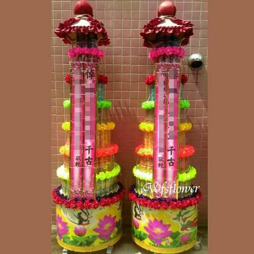P011弔唁花禮罐頭禮藍塔台南市花店