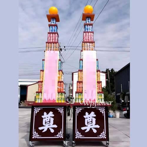 P012弔唁花禮罐頭禮藍塔台南市花店