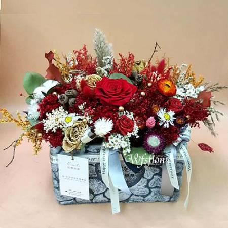 J025祝賀乾燥花盆花台南市乾燥花