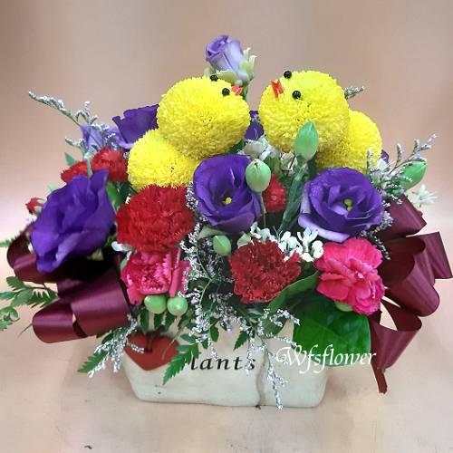 D094母親節快樂母親節盆花