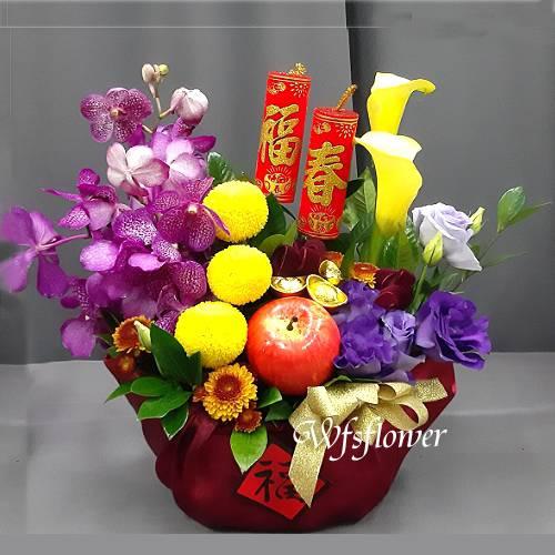 D105鴻運來年節花禮台南市花店