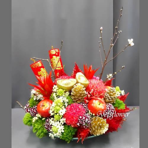 D112喜年來新春盆花恭賀新禧