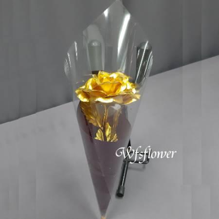 gold-02金箔玫瑰花情人節時尚花