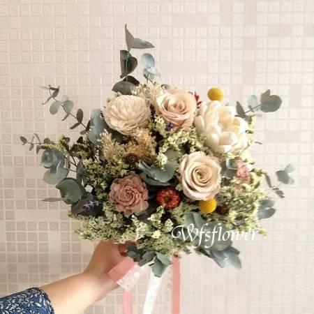 Y023婚禮會場乾燥捧花乾燥花束台南花店