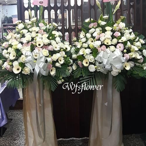 BL011素雅型高架花籃台南市花店