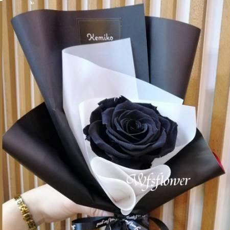 G019黑玫瑰永生花束店主推薦
