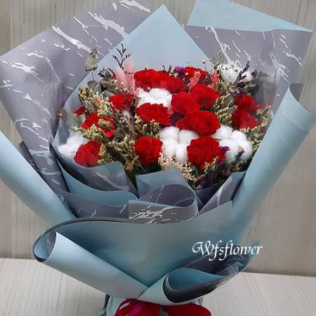 MS070香皂花&乾燥花母親節花束