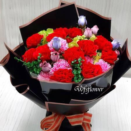 MS071溫馨親情母親節花束台南花店
