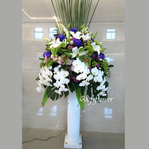 BL055素雅型羅馬花柱一對台南市花店