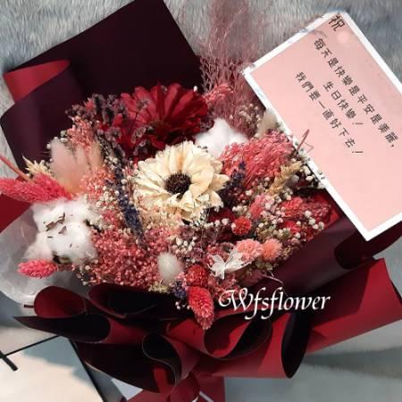 J039永恆的愛乾燥花花束台南代客送花台南市推廌花店