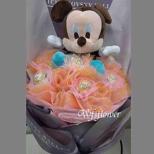 N115米奇金莎玩偶花束畢業花束台南市花店