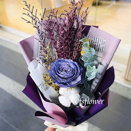 J044乾燥花花束畢業季小物台南市花店