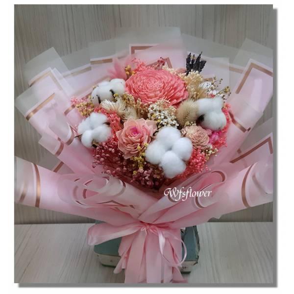 J047永恆的愛乾燥花花束台南代客送花