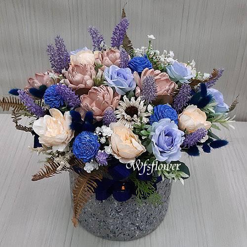 J051溫馨乾燥花盆花台南市花店代客送花