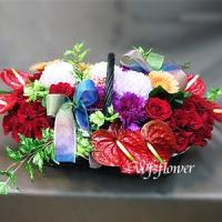 D065喜事到精緻盆花慶開幕賀婚禮會場擺飾台南花店
