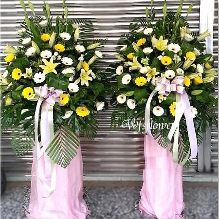 BL042會場花素雅型花柱一對各式柱台南市花店