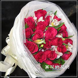 F088熱戀紅玫瑰花束20朵情人花束生日花束台南市花店台南網路花店