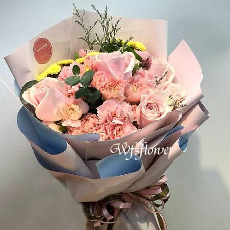 F101傳情花束情人花束生日花束台南代客送花