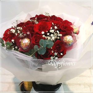 F103玫瑰金莎花束情人花束生日花束台南代客送花