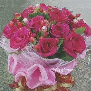 Y005紅玫瑰婚宴捧花求婚捧花台南市花店