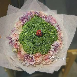 Y011小資女孩看過來願意嫁給花椰菜嗎婚宴捧花台南市花店
