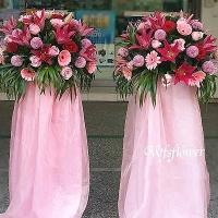 BL018優雅型花柱一對各式會場花柱台南市花店