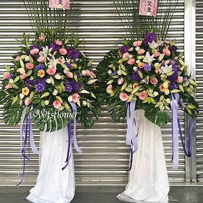 BL017雅布幔羅馬花柱(一對)藝術花柱台南市花店