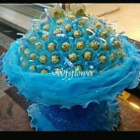 C001藍色迷情 100朵金莎花束台南網路花店