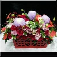 D073喜悅祝賀花禮婚禮祝福開幕盆花台南市花店