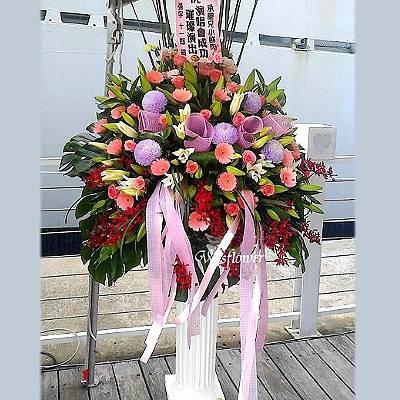 BS03歐式羅馬花柱一支開幕展場賀禮台南市花店