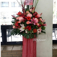 BL041高架花藍(一對)藝術花柱台南市花店