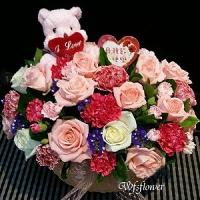 D076花漾媽咪母親節盆花母親節花禮台南市花店台南網路花店