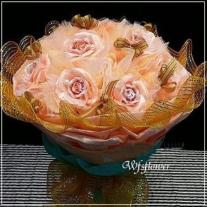 MS013你是我的花朵手工香皂玫瑰花束台南市花店