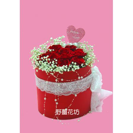 AA076紅玫瑰花禮盒