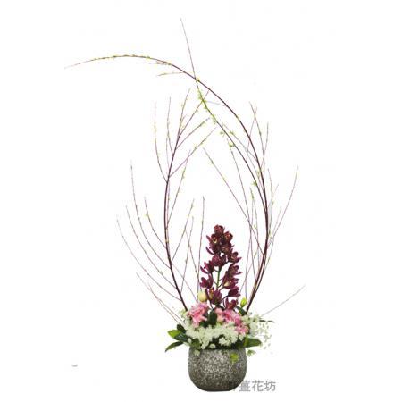 I022設計盆花(包含花器)