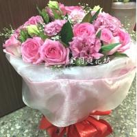 A039康乃馨玫瑰花束母親節花束