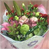 A040康乃馨玫瑰花束母親節花束