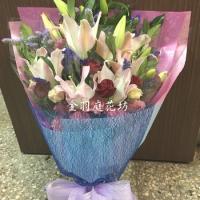 A041康乃馨玫瑰花束母親節花束