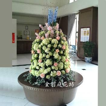 E062大型藝術落地盆花開幕喬遷榮陞會場佈置