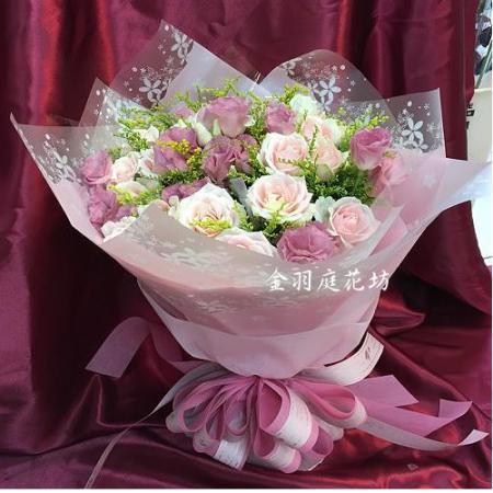 A047愛的告白玫瑰花束情人節生日花束