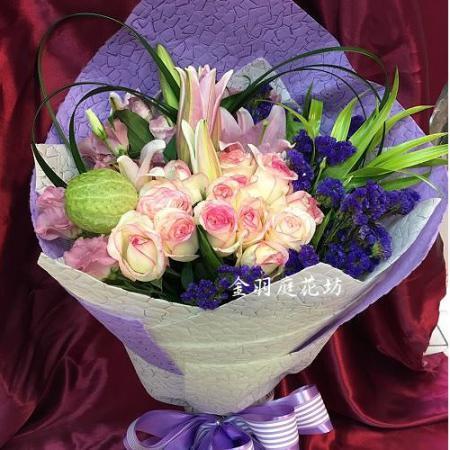 A048心心相印時尚花束演唱會獻花花束